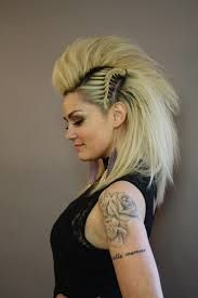 faux hawk female long hair - Google Search