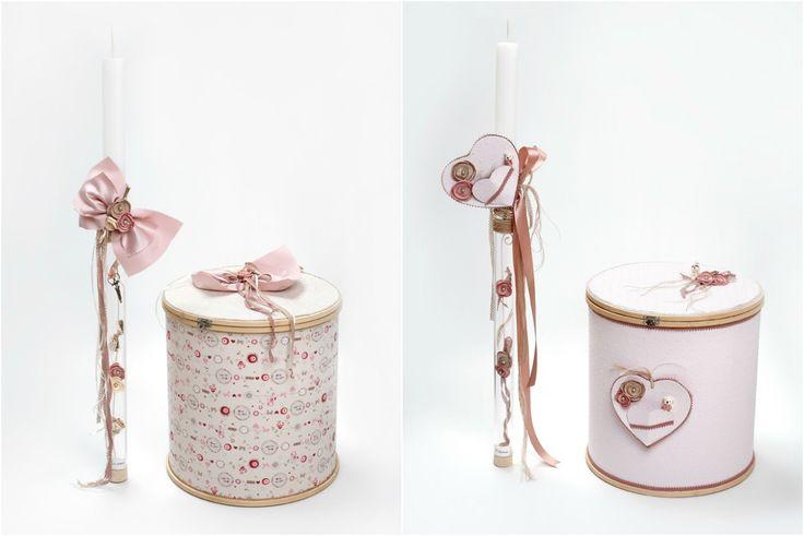 #christening #boxes #pink #heart #handmade