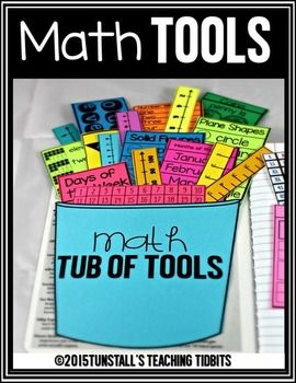 Math Tools for Reference   *Recently updated to include 17 new tools!*Create a reference area in student  journals or student workbooks with these helpful math reference tools.  As you introduce new concepts to students, add to your student's tub of tools!