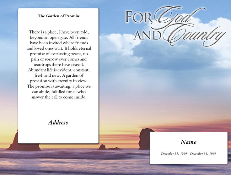 The  Best Funeral Program Template Free Ideas On