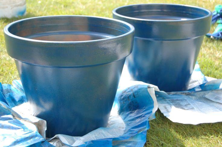 Pin by brenda paulk on gardening planter ideas pinterest - Terracotta exterior paint set ...