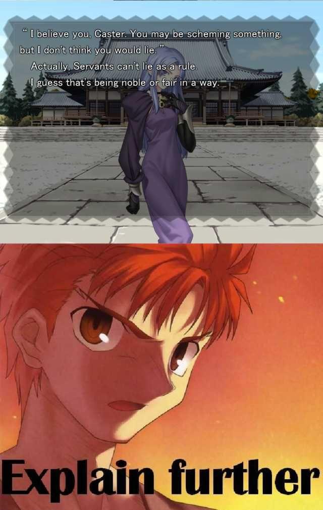 Anime Memes 119 Fate Stay Night Anime Amino