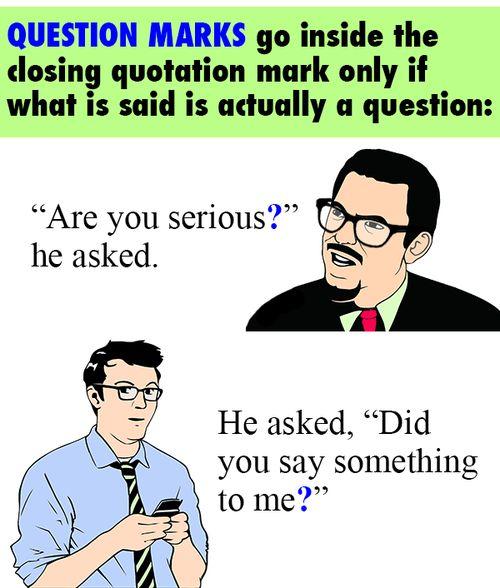 Question marks and quotation marks Miz English Teacher
