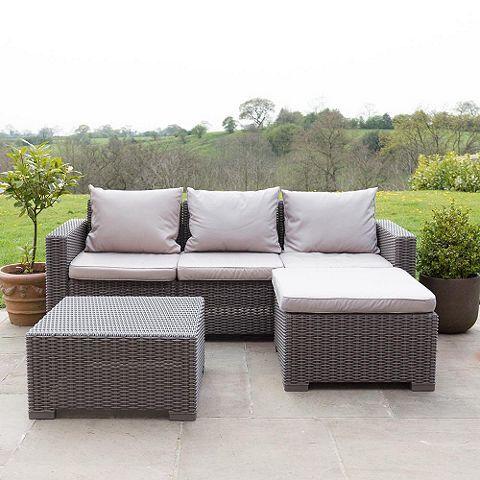 £360 Tesco direct: Allibert California Corner Sofa & Table - Cappuccino