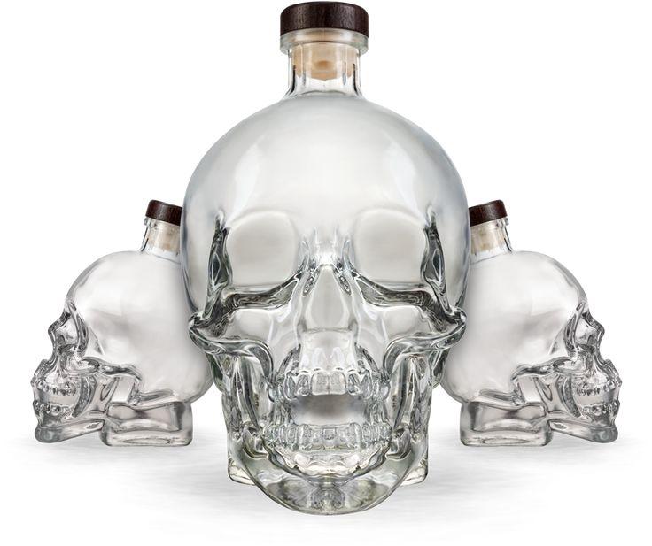 Crystal Head Vodka And Shot Glasses