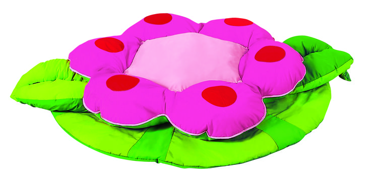 """""""Jennifer the Flower"""" Giant Floor Cushion from #Wesco. Perfect for any #playroom or child's bedroom."""