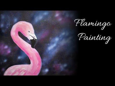 Flamingo Galaxy - Acrylic and Airbrush Speed Painting