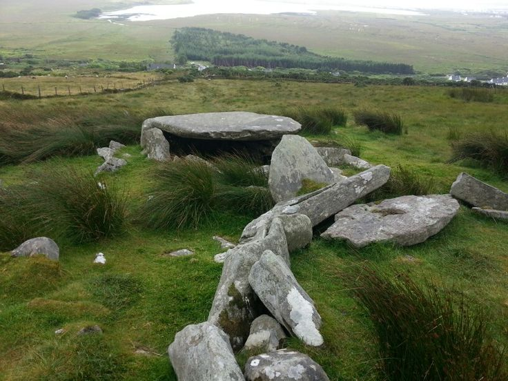 Megalithic tomb on Achill island, County Mayo.