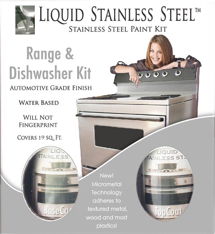 Liquid Stainless Steel Appliance Paint - Range & Dishwasher Kit