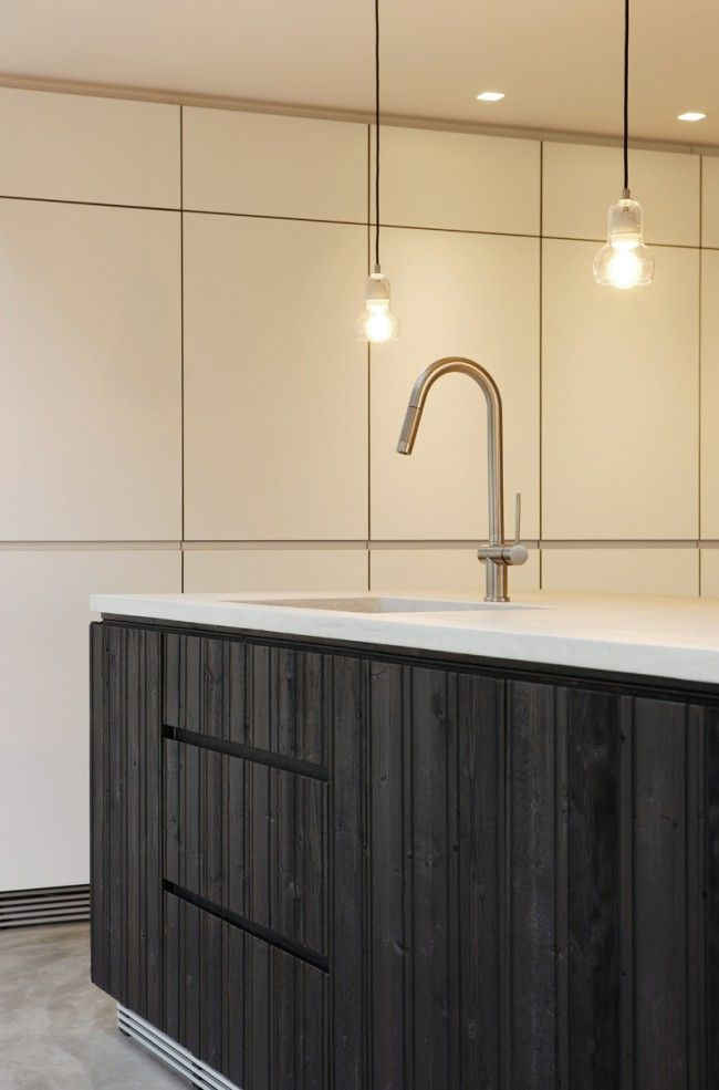 1000 images about kitchen on pinterest shelves plywood for Matt black kitchen doors