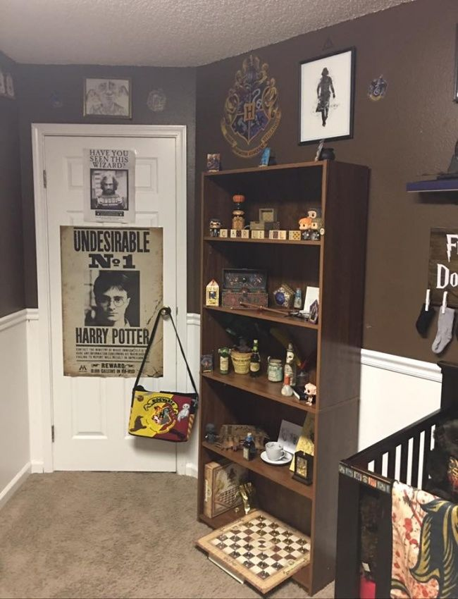 Some Harry Potter fanatics created achild's bedroom inthe style oftheir favorite saga