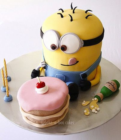 Bolo Minion: Cakes Ideas, Cupcake, So Cute, Food, Despicable Me Cakes, Minions Birthday, Despicableme, Birthday Cakes, Minions Cakes