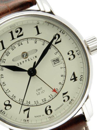 Graf Zeppelin Dual Time, GMT Watch 7642-5