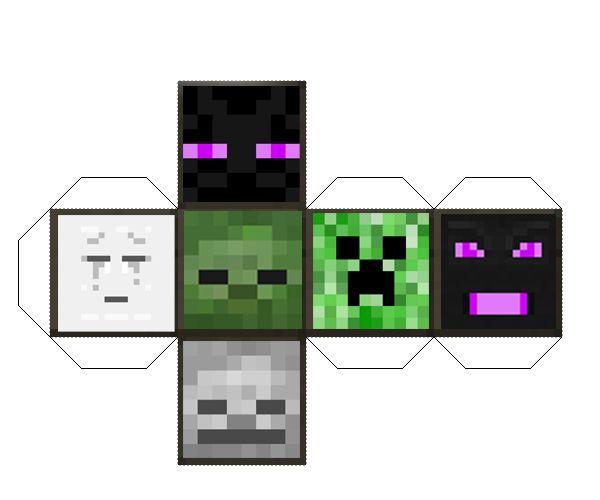 Minecraft Papercraft Mob Die | Minecraft | Pinterest | Papercraft ...