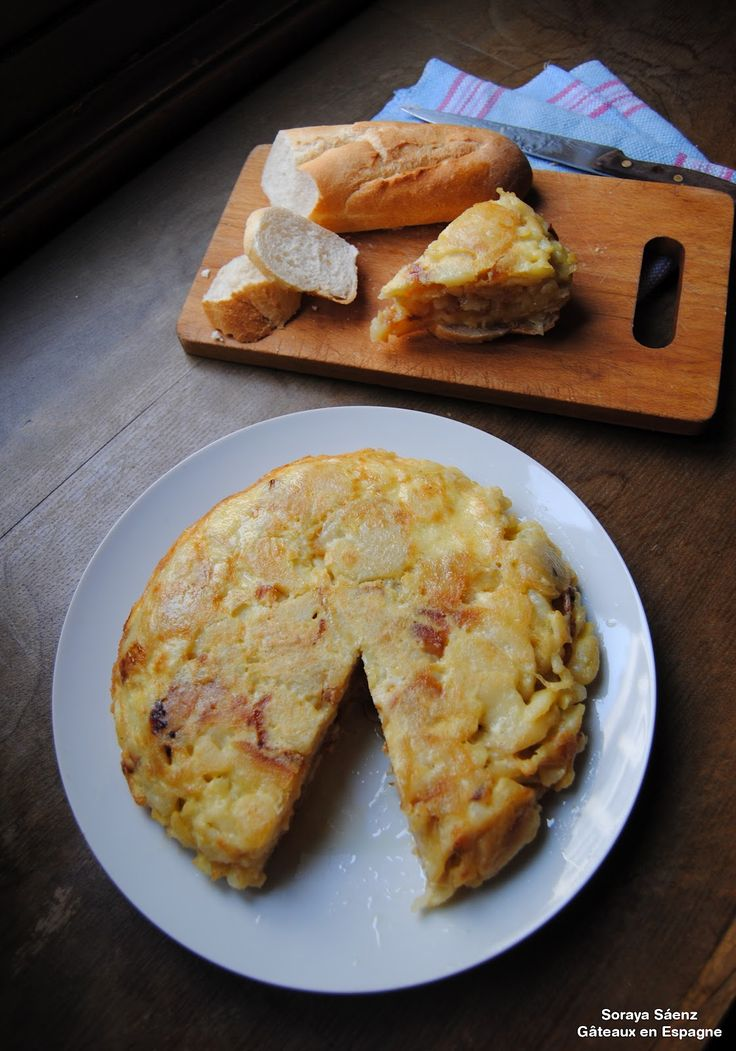 Tortilla espagnole : pommes de terre, oeufs, oignon