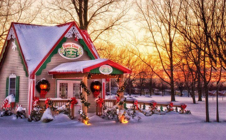 """Dec. 8 – 22: Santa Claus Christmas Cottage Christmas Cottage, 5080 Day Rd. Park, Lockport Tues. & Thurs., 5-8pm 