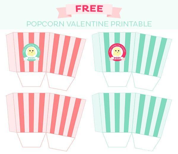 popcorn valentine treat boxes