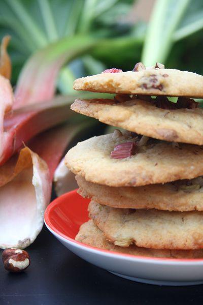 Rhabarber-Haselnuss-Cookies von Kochmädchen