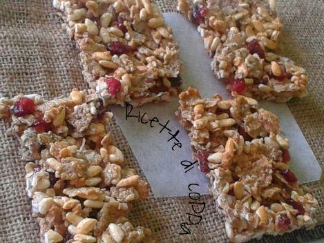 Barrette ai cereali e frutti rossi homemade