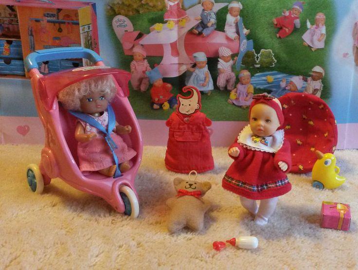 Zapf, Mini Baby Born Puppe, Kinderwagen, Sitzsack, Ente, Kleidung, Zubehör