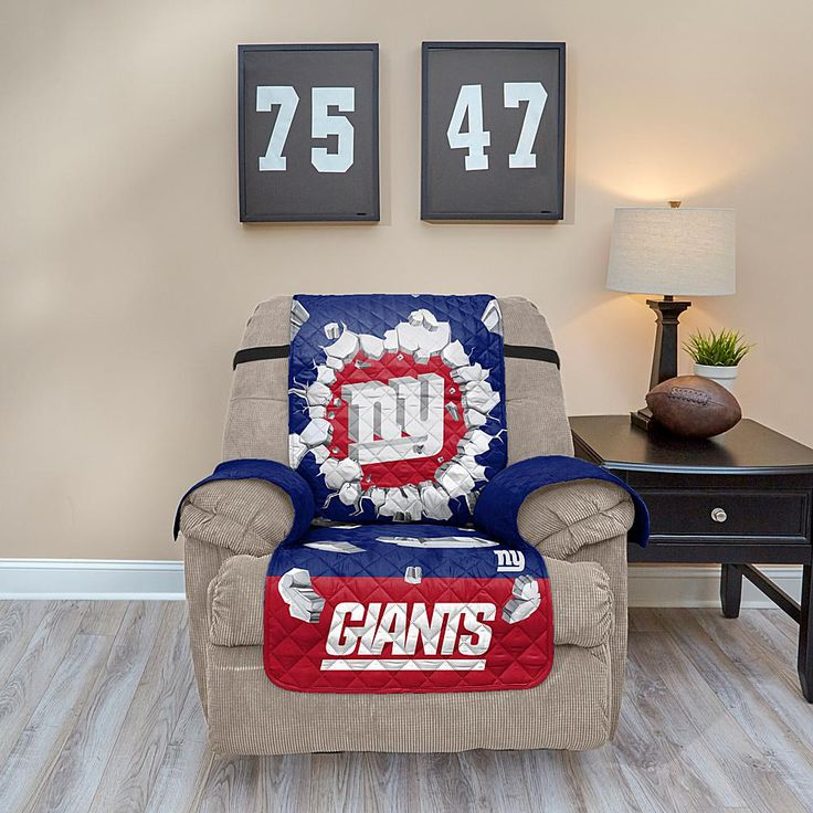 Officially Licensed NFL Recliner Protector with 3D Design - Cowboys - Giants