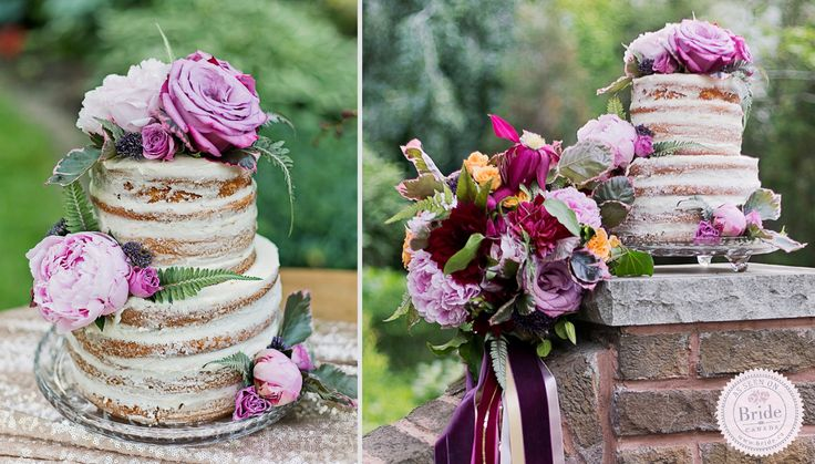 Undressed wedding cakes are a new trend that we are really loving! @buletters