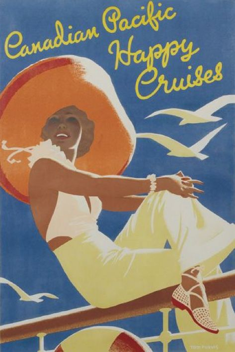 By Tom Purvis (1888-1959), 1937, Canadian Pacific Happy Cruises. (British)