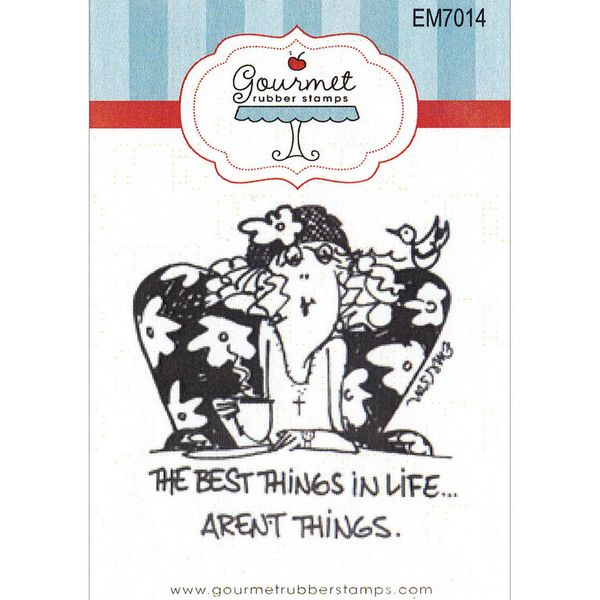 """Gourmet Rubber Stamps Cling Stamps 2.75""""X4.75""""-The Best Things In Life"""