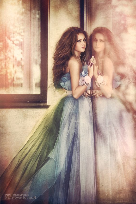 Length Photo by Petrova Julian. I love how it looks like a painting, the colours are gorgeous, and the reflection. #photography #photo #portrait #beautifulwoman #colourfuldress #reflection #dress #petrovajulian #500px
