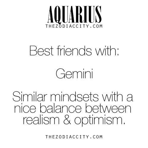 Zodiac Aquarius Best Friend | TheZodiacCity.com