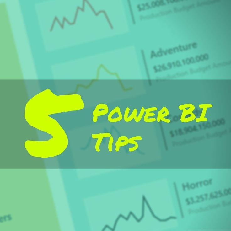 5 Tips For Powerbi