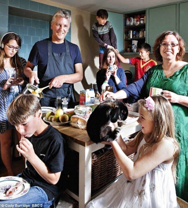 Hamish, the son of a baronet, and his South African wife Merlyn live in rural Suffolk with their six children (all named after plants). They have a far more frugal spread with a budget of £100 a week to feed the family