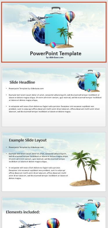 Time For A Vacation A 3d Holiday And Beach Themed Powerpoint