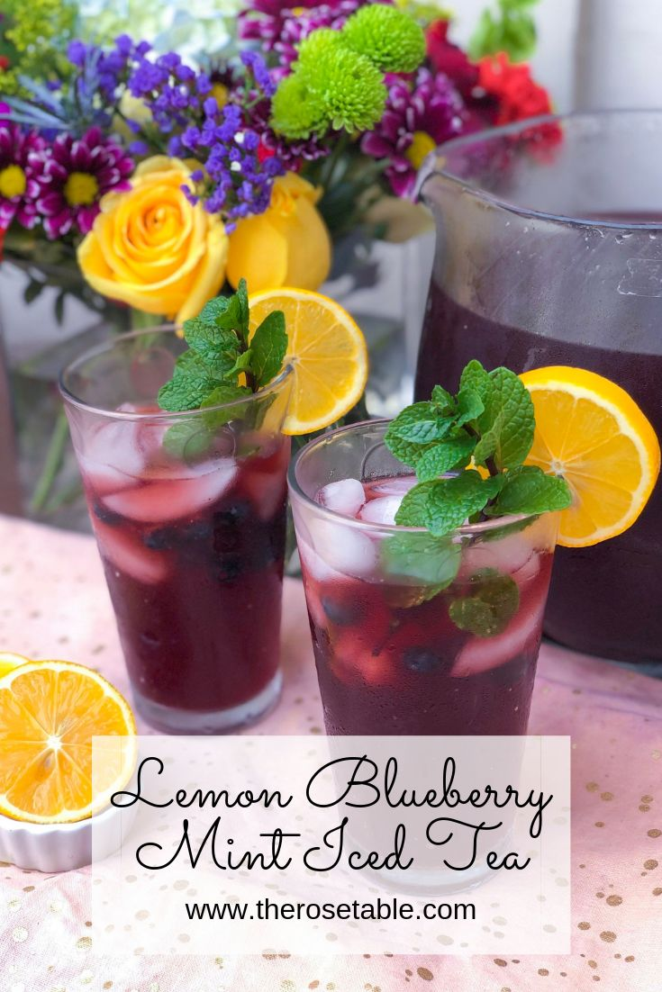 Lemon Blueberry Mint Iced Tea