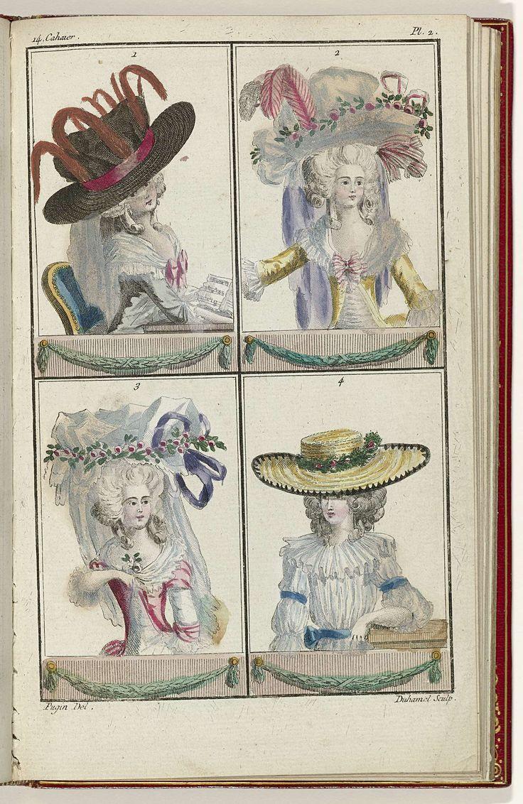 Cabinet des Modes ou les Modes Nouvelles, 1 Juin 1786, pl. 2, A.B. Duhamel, Pugin, Buisson, 1786