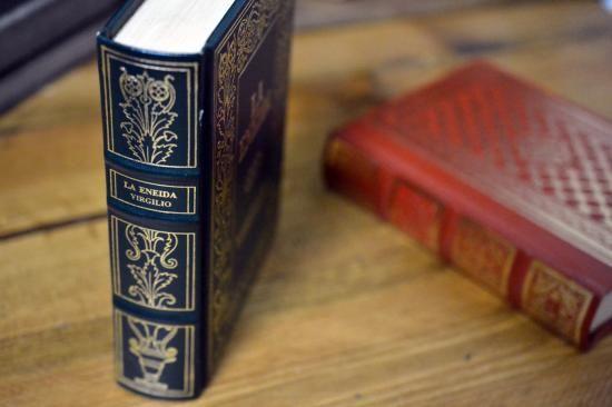 デコボコ背表紙の古い洋書。インテリアにおしゃれなオールドブック。