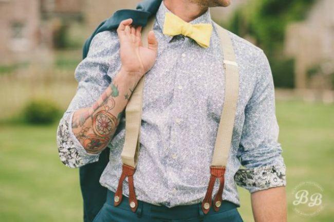 Hosenträger als Must-have für den Bräutigam! Auf die Details kommt es eben an Image: 1