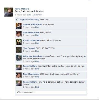 Hunger Games on Facebook squigette03 arleendexheimer tracyejordanee