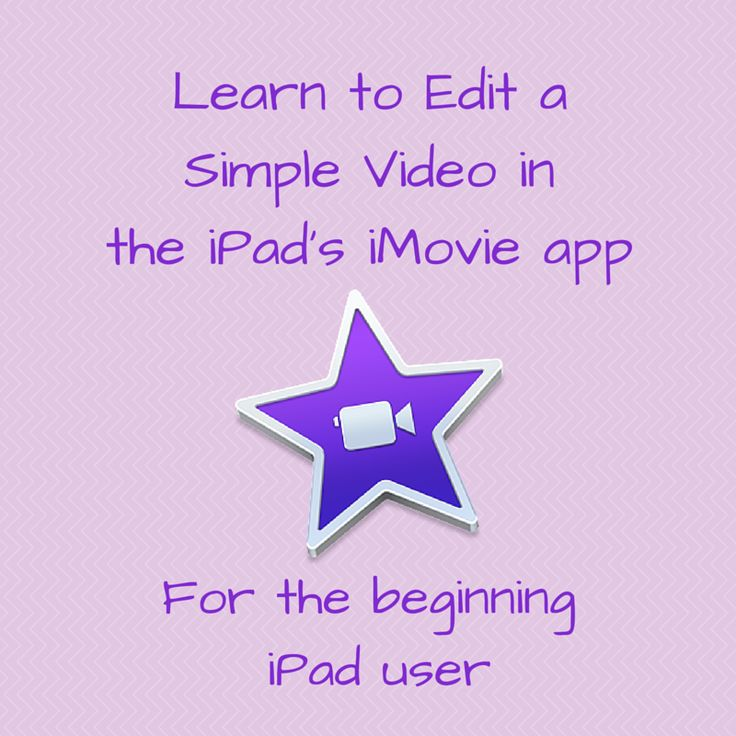 The iMovie app on iPad is simpler than the full version on a Mac. Learn to Edit a Simple Video in the iPad's iMovie app in Less than Three Minutes! #edtech