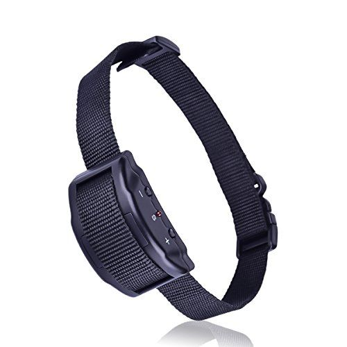 No Bark Collar, Rainco Anti Barking Collar with 7 Levels Sensitivity Adjustment and Shock Vibration Mode for All Size Dogs or Puppy Battery included Black - Good new for dog owner: Too much Barking? Too much argument of your dogs. Rainco Presents you the upgraded Anti-Barking Collar for you dogs. This collar helps you to control your dogs from barking in a very safe and harmless way. Rainco Anti-Barking Collar gives you peaceful and happy environment...