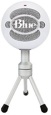 ﹩69.87. Blue Microphones Snowball iCE Condenser Microphone Cardioid USB Audio Mic New   Connectivity - Cable, Connector(s) - USB, Features - Adjustable Stand/Mount, Microphone Form Factor - Handheld/Stand-Held, Pickup Pattern - Cardioid, Mount Type - None, To Fit - Camera, Design - Freestanding, Type - Condenser Microphone, Description - It's never been easier to get high quality audio with your computer!Home, office, anywhere-- the Snowball iCE USB microphone delivers HD-qualit