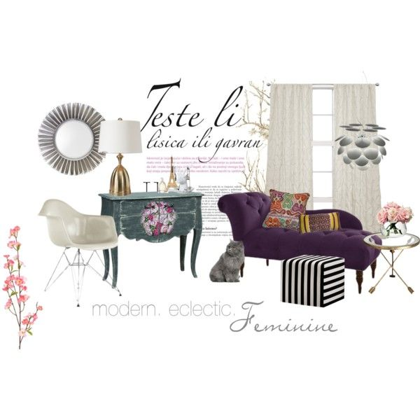 """Modern. Eclectic. Feminine Space"" by smartfurniture on Polyvore"