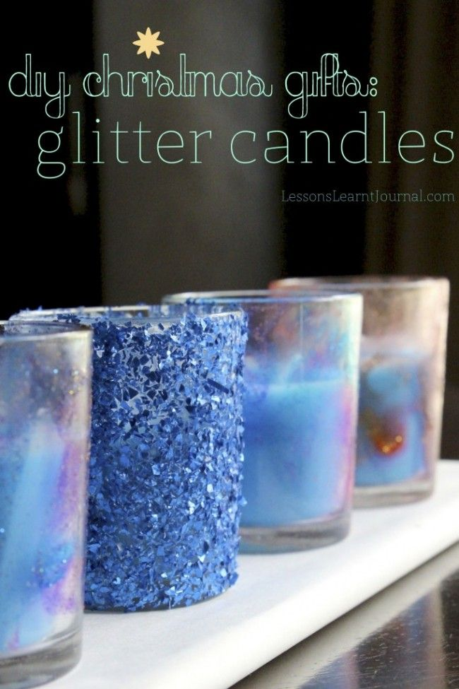 +DIY+Christmas+Gifts:+Glitter+Candles+ +Not+all+Christmas