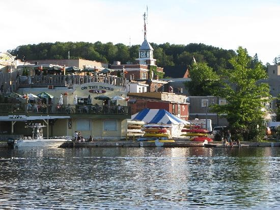 The charming town of Huntsville, Ontario in the beautiful Muskoka region