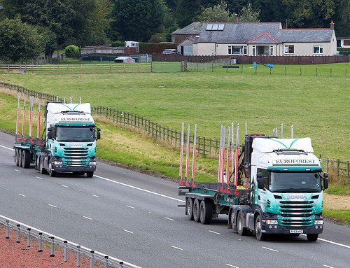 Euroforest Scania streamline pair | A74M near Lockerbie, Sco… | Flickr