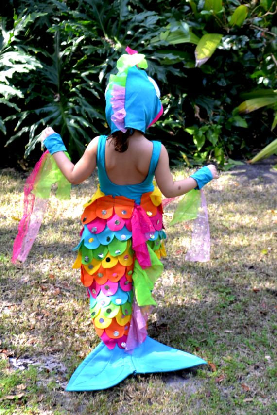 Rainbow fish costume crafted by yudi halloween for Rainbow fish costume