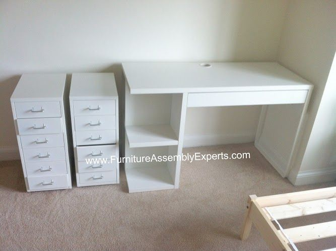 Ikea Micke Desk And File Cabinets Assembled In Greenbelt Md By Furniture Assembly Experts Llc