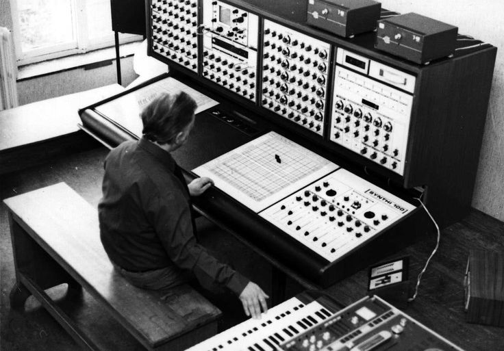 a big EMS Synthi 100 system at the Institute for Psychoacustics and Electronic Music ~ manufactured in Britain from 1974-78 ~ every one of these had its own name