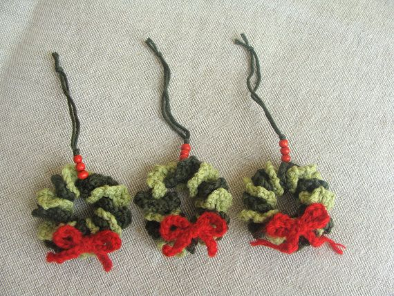 Christmas Decorations Mini Wreath Handmade PATTERN, Crochet Christmas Tree, Christmas Ornament, Christmas Tree Decor, Xmas Ornaments