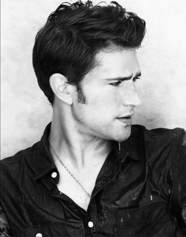 Gorgeous portrait of Matt Dallas by Justin Campbell for a JustJared rooftop shoot in March 2012.